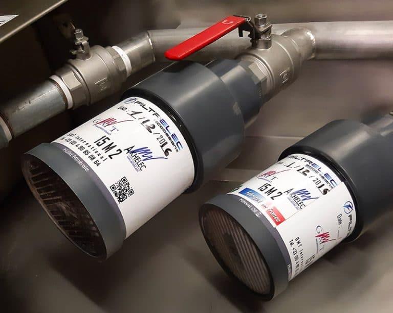 FILTRELEC: Sistema di filtrazione di acqua piovana inquinata da idrocarburi in contenitori con apparecchi a bassa tensione