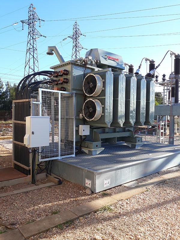 Vasche di acciaio modulari con sistema di estinzione per trasformatori di alta tensione