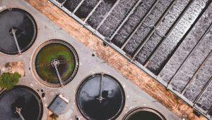 vista aerea di una stazione di filtrazione